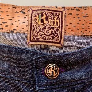 Rich & skinny jeans button fly 31 dark navy